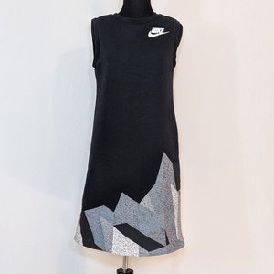 Nike Tech Fleece Black Sleeveless Geometric Dress